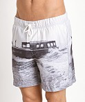G-Star Yoshem Raw Ferry Beach Shorts Light Chalk, view 3