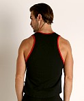 American Jock Equipo Scoop Tank Top Black, view 4