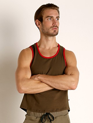 Complete the look: American Jock Equipo Scoop Tank Top Olive