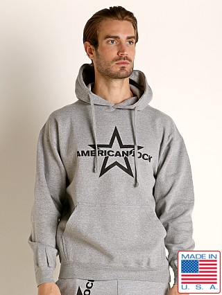 Model in heather American Jock Equipo Hoody