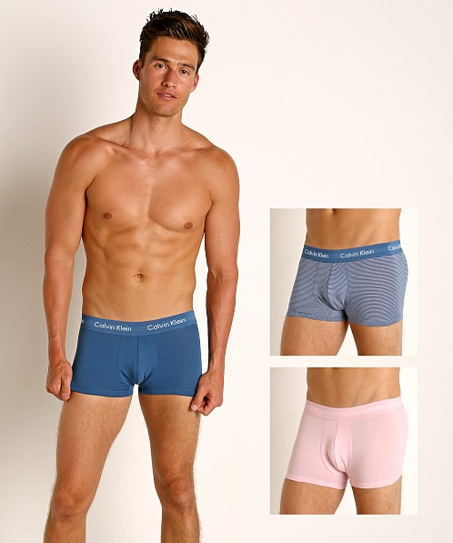 Calvin Klein Cotton Stretch Low Rise Trunks 3-Pack Pink/Stripe/B