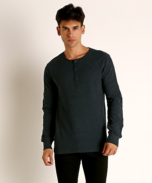 G-Star Motac Grandad Long Sleeve Henley Legion Blue