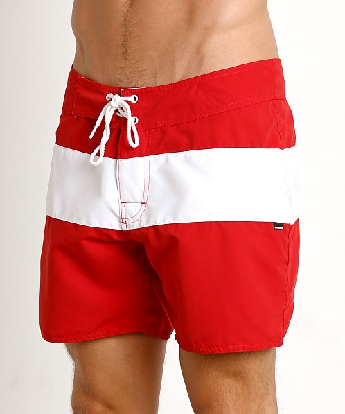 Sauvage Surf California Classic Boardshort Red