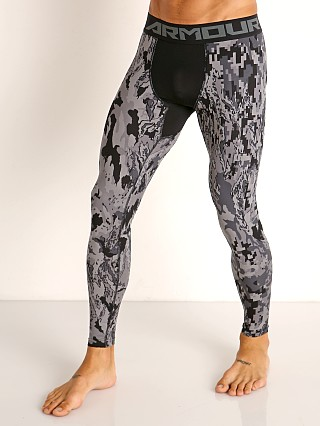 Under Armour HeatGear 2.0 Printed Leggings Black/Halo Gray