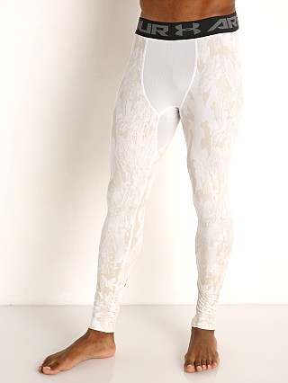 Under Armour HeatGear 2.0 Printed Leggings White