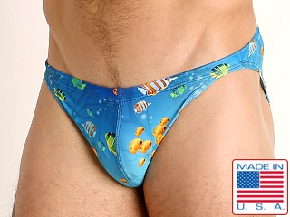 Model in fish paradise LASC Super Low Rise Swim Brief