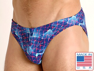 Model in revelation LASC St. Tropez Low Rise Swim Brief