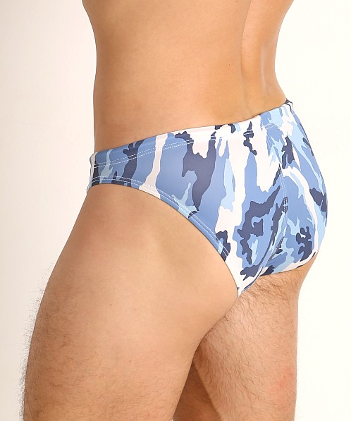 LASC St. Tropez Low Rise Swim Brief Marine Camo