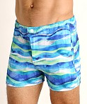 LASC Malibu Swim Shorts Blue Waves, view 3