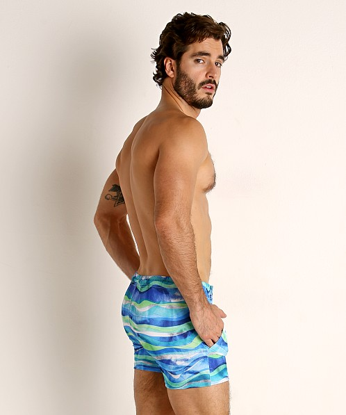 LASC Malibu Swim Shorts Blue Waves