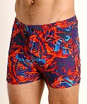 LASC Malibu Swim Shorts Flaming Orange, view 3