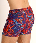 LASC Malibu Swim Shorts Flaming Orange, view 4