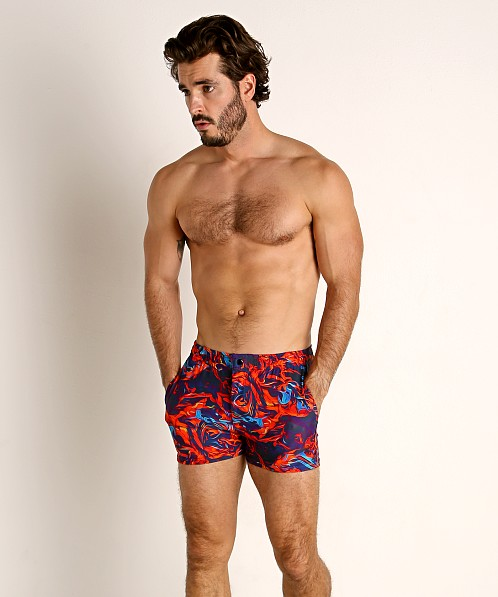 LASC Malibu Swim Shorts Flaming Orange