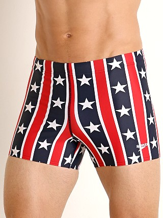 Speedo Stars and Stripes Square Leg Swim Trunk Red/White/Blue