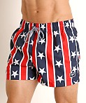 Speedo Redondo Stars and Stripes Volley Short Red/White/Blue, view 3