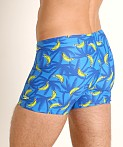 Speedo Banana Tree Square Leg Swim Trunk Blue Lemonade Print, view 4