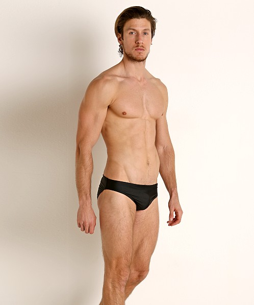 Speedo Logo PowerFlex ECO Swim Brief Speedo Black