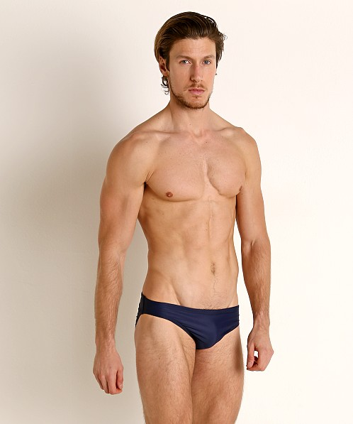 Speedo Logo PowerFlex ECO Swim Brief Speedo Navy