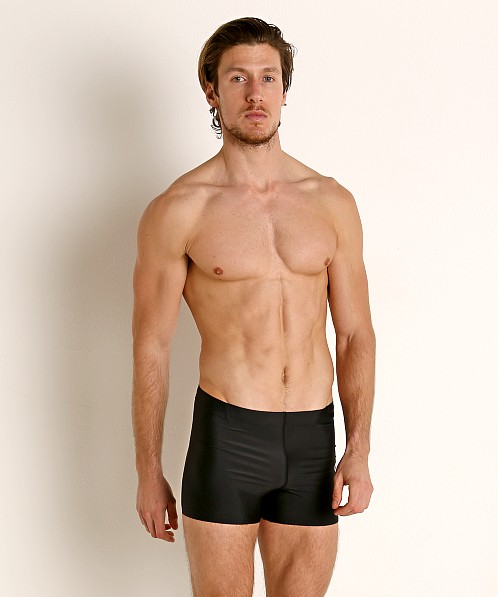 Speedo Logo PowerFlex ECO Square Leg Swim Trunk Speedo Black