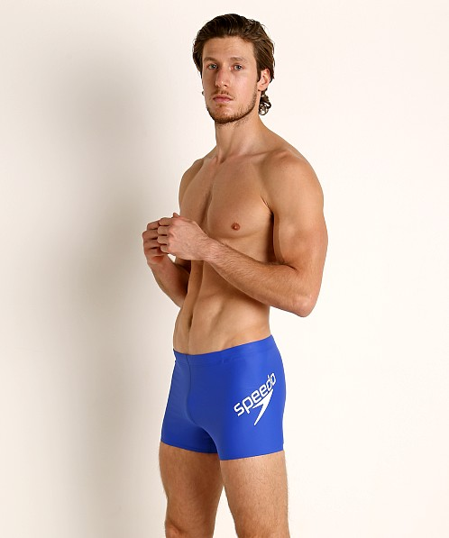 Speedo Logo PowerFlex ECO Square Leg Swim Trunk Speedo Blue