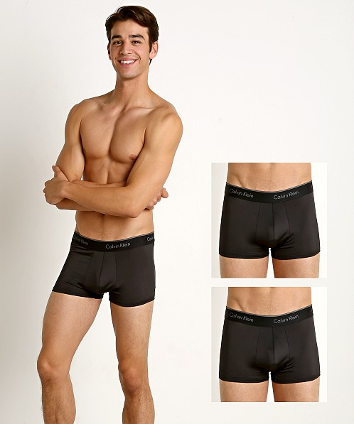 Calvin Klein Microfiber Stretch Low Rise Trunk 3-Pack Black