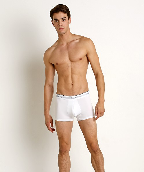 Calvin Klein Microfiber Stretch Low Rise Trunk 3-Pack White