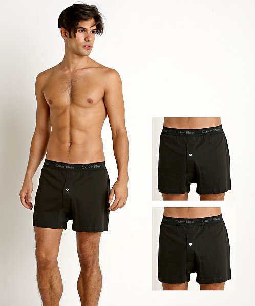Calvin Klein Cotton Classics Knit Boxer 3-Pack Black