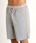 American Jock Iron Workout Short Heather Grey/Gold, view 3