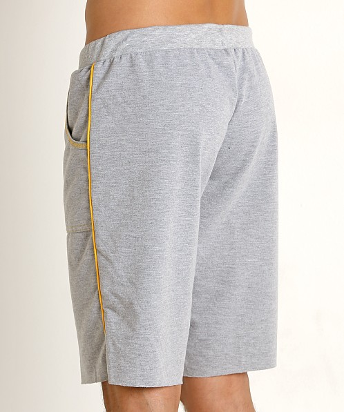 American Jock Iron Workout Short Heather Grey/Gold