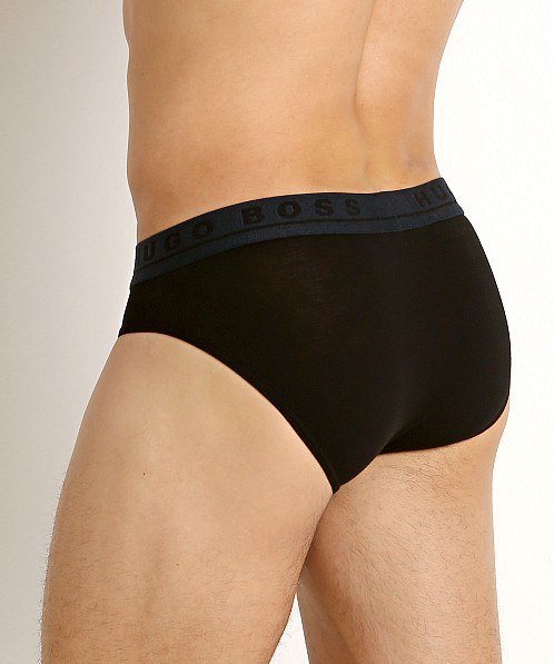 Hugo Boss Cotton Stretch Briefs 3-Pack Black