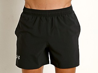 "Under Armour Launch 5"" Running Short Black/Blue"