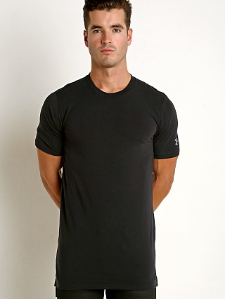 Model in black Under Armour Baseline Long Tee