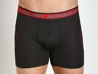 "Under Armour ISO-Chill 6"" Mesh Boxerjock Black"