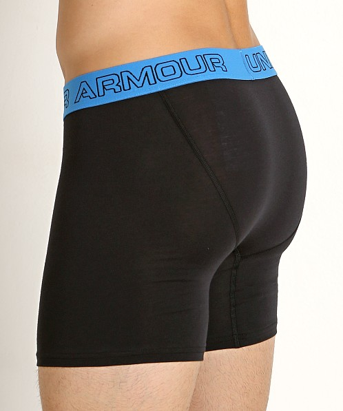 "Under Armour Cotton Stretch 6"" Boxerjock 3-Pack Black/White/Red"