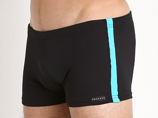 You may also like: Sauvage Pique Textured Squarecut Swim Trunk Black/Turq