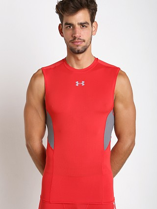 Under Armour Coolswitch Compression Muscle Tee Red