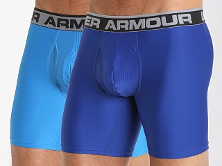 "Model in royal/brilliant blue Under Armour ""O"" Series 6"" Boxerjock 2 Pack"