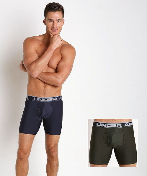 "Under Armour ""O"" Series 6"" Boxerjock 2 Pack Midnight Navy"