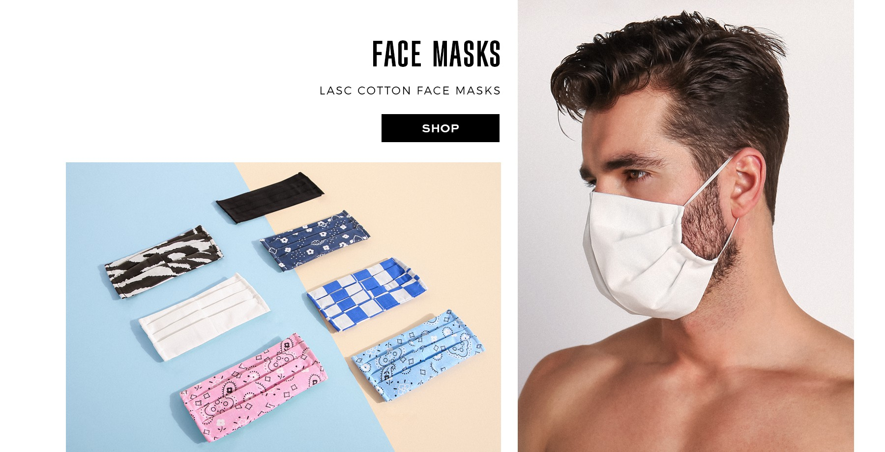 Cotton facemasks in multiple colors and prints